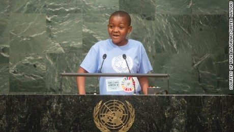 Tanzania's Getrude Clement, 16, is a radio reporter and climate advocate.