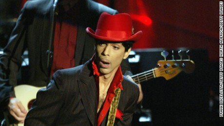 NEW YORK - MARCH 15:  Inductee Prince performs following George Harrison's induction at the Rock & Roll Hall Of Fame 19th Annual Induction Dinner at the Waldorf Astoria Hotel March 15, 2004 in New York City.  (Photo by Frank Micelotta/Getty Images)