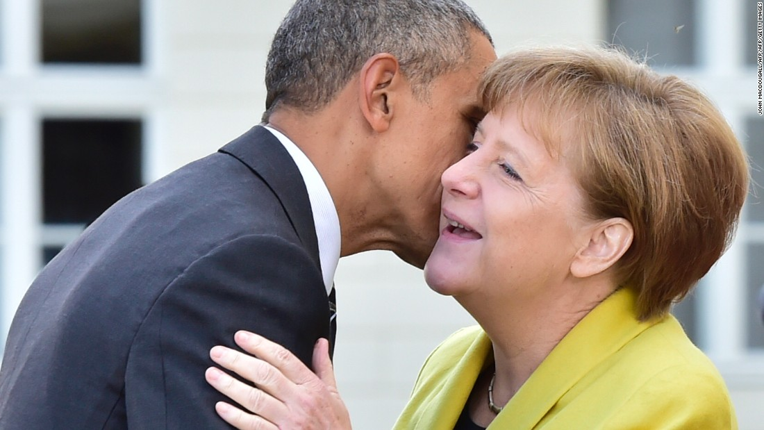 Merkel meets with Obama, then Trump