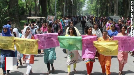 Outraged students and teachers stage a protest, demanding immediate justice for their slain mentor and colleague, 58-year-old Rezaul Karim Siddique, who taught English at Rajshahi University in Bangladesh.