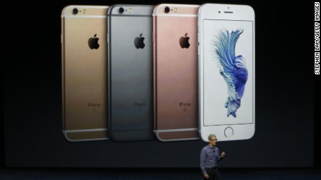 Apple CEO Tim Cook speaks about the new iPhone 6s.