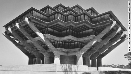 Geisel Library, University of California, San Diego, California, USA, 1970 by William Pereira & Associates.