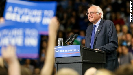 Democratic presidential candidate Bernie Sanders, I-Vt., speaks during a rally on Tuesday, April 26, 2016, Huntington, W.Va. (Sholten Singer/The Herald-Dispatch via AP) MANDATORY CREDIT