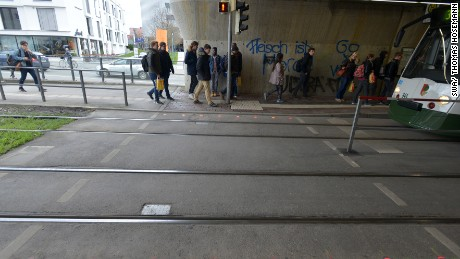 Why German city puts traffic lights on the ground...