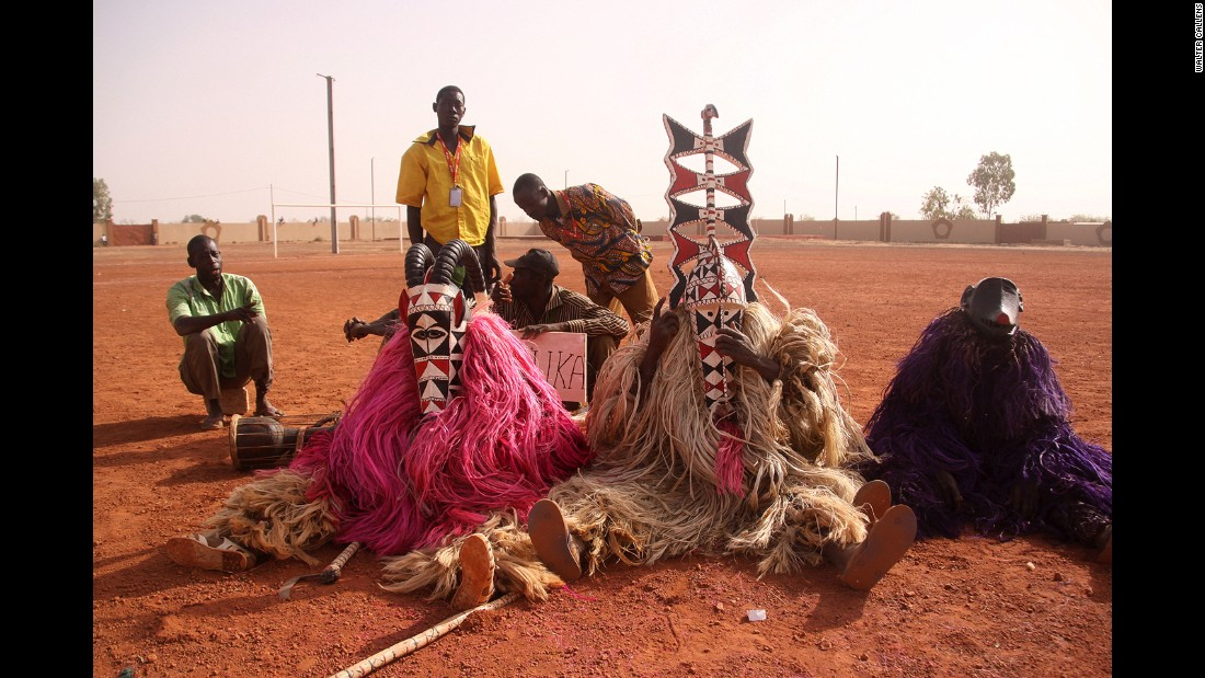 """Anthropologist Laurence Douny says that """"Festima is a good way for the organizers to make sure younger generations actually know what the masks are all about. There's a lot of masks in Burkina, but they tend to disappear in some areas because of religion."""""""