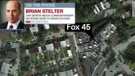 Man in animal suit shot outside Baltimore TV station