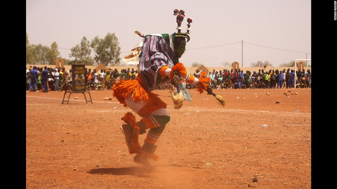 Every other year, thousands of people converge on Dedougou in Burkina Faso to celebrate traditional mask culture. The group organizing the event, called Festima, claim that 100,000 people come to watch over 500 masked men from Burkina Faso, Benin, Togo, Ivory Coast, Senegal and Mali perform across the week-long celebration.