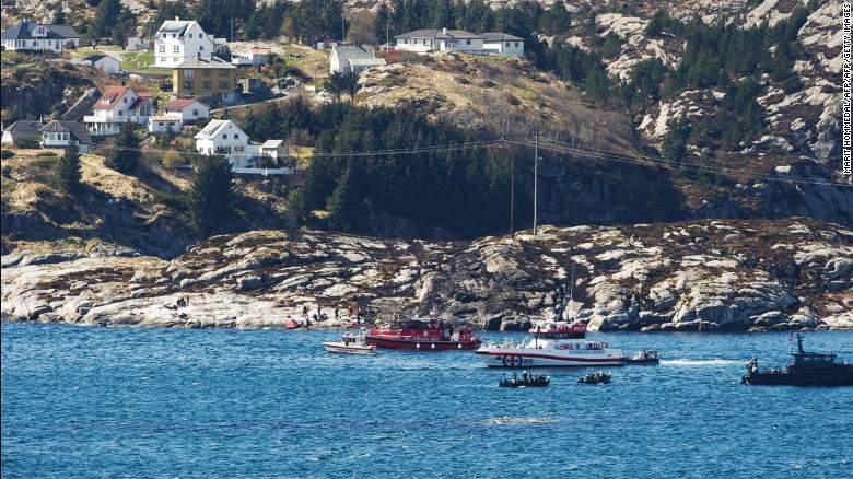Helicopter crashes into sea off Norway, at least 11 dead