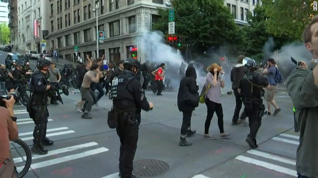 Seattle May Day protests marred by Molotov cocktails, violence