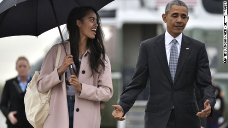 Malia Obama wears graduation cap with Hadith on it
