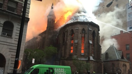 A massive fire broke out at an Orthodox cathedral in New York City.