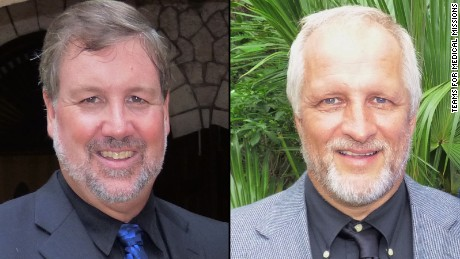 Randy Hentzel, left, and Harold Nichols, were killed during a motorcycle trip in northeastern Jamaica.