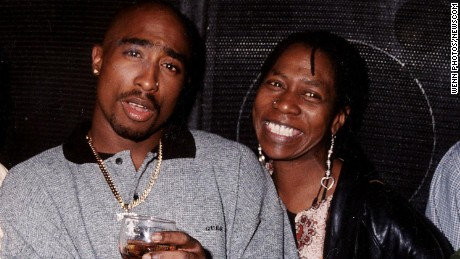 Tupac Shakur with his mother, Afeni Shakur