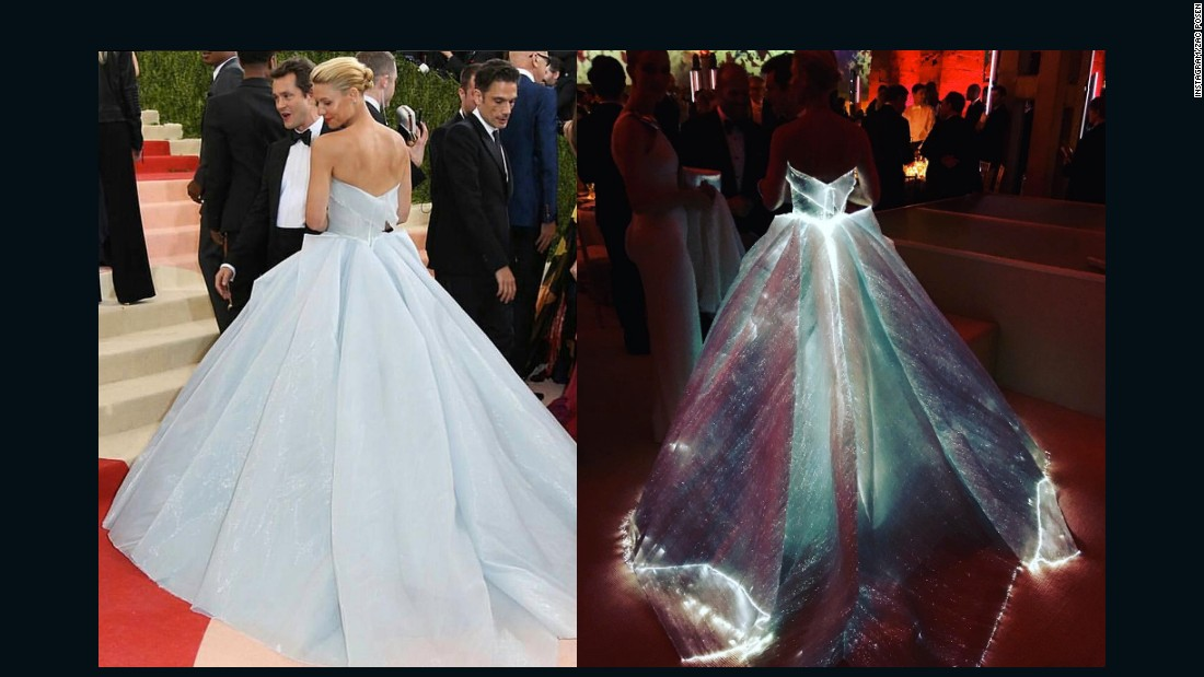 Actress Claire Danes was glowing, quite literally, in this dress by Zac Posen.