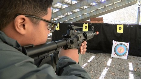 A South Carolina high school class teaches students about gun safety and survival skills.