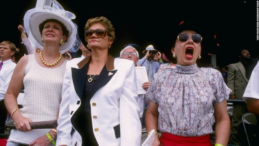 """The style in the infield is relaxed, with women wearing cool sundresses, cotton skirts, or more frequently shorts,"" said the <a href=""https://www.kentuckyderby.com/history/fashion/1990s"" target=""_blank"">Derby website </a>of 1990s styles."