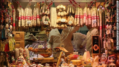 Ostriakov was caught stealing sausage and cheese from a small supermarket in Genoa.