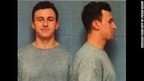 2012 Heisman Trophy winner Johnny Manziel.