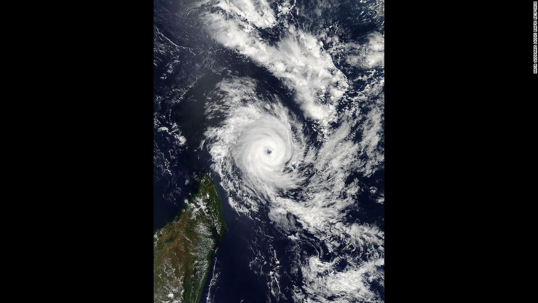 Tropical Cyclone Fantala circulates just northwest of Madagascar on Wednesday, April 20.