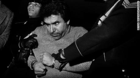 Notorious mafia boss Leoluca Bagarella's arrest. Palermo 1980.