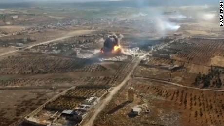 Drone video shows fight in Aleppo