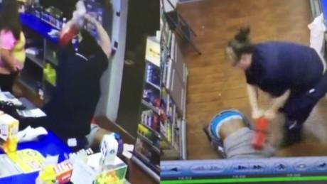 Gas station clerk fire extinguisher robbery suspect pkg_00010315
