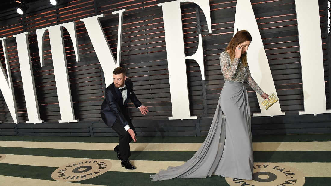 "Timberlake and Biel arrive at the Vanity Fair Oscar Party in February. A couple months later, he released a new single, ""Can't Stop the Feeling."" It's featured on the soundtrack of the animated movie ""Trolls,"" in which he voices one of the characters."