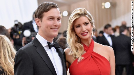 "Jared Kushner and wife  Ivanka Trump attend the ""Manus x Machina: Fashion In An Age Of Technology"" Costume Institute Gala at Metropolitan Museum of Art on May 2, 2016 in New York City."