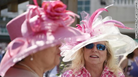 Fancy hats at the Kentucky Derby