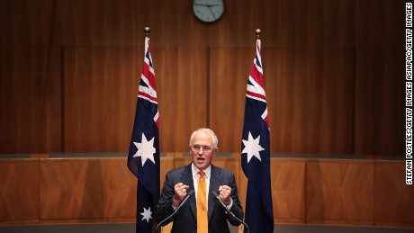 CANBERRA, AUSTRALIA - MAY 08:  Prime Minister Malcolm Turnbull speaks to the media during a press conference at Parliament House on May 8, 2016 in Canberra, Australia. Malcolm Turnbull visited the Governor General today to ask for a double dissolution election on 2 July. All 150 House of Representatives seats and 76 Senate seats will be up for election.  (Photo by Stefan Postles/Getty Images)
