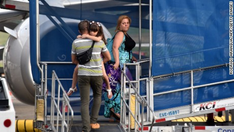 Cuban migrants depart from Panama City to Ciudad Juarez, in northern Mexico along the US border, on May 10.