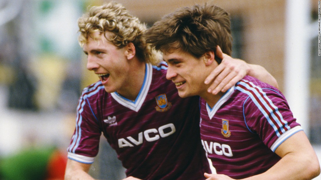 West Ham's best league finish is third, in the 1985-86 season of the old Division One, when strikers Frank McAvennie (left) and Tony Cottee (right) scored 46 goals between them.