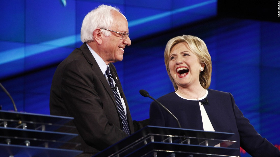 "U.S. Sen. Bernie Sanders shares a lighthearted moment with Clinton during a Democratic presidential debate in October. It came after Sanders gave his take on the Clinton email scandal. ""The American people are sick and tired of hearing about the damn emails,"" Sanders said. ""Enough of the emails. Let's talk about the real issues facing the United States of America."""