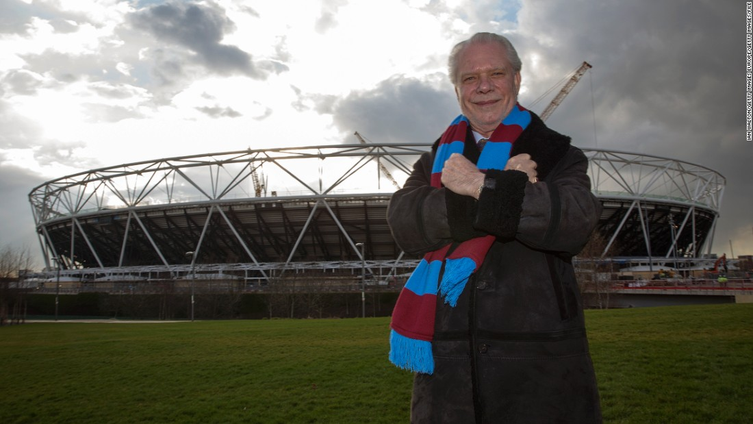 However, next season the English Premier League club will move to the nearby Olympic Stadium in Stratford. West Ham chairman David Gold is pictured outside the venue in March 2015.