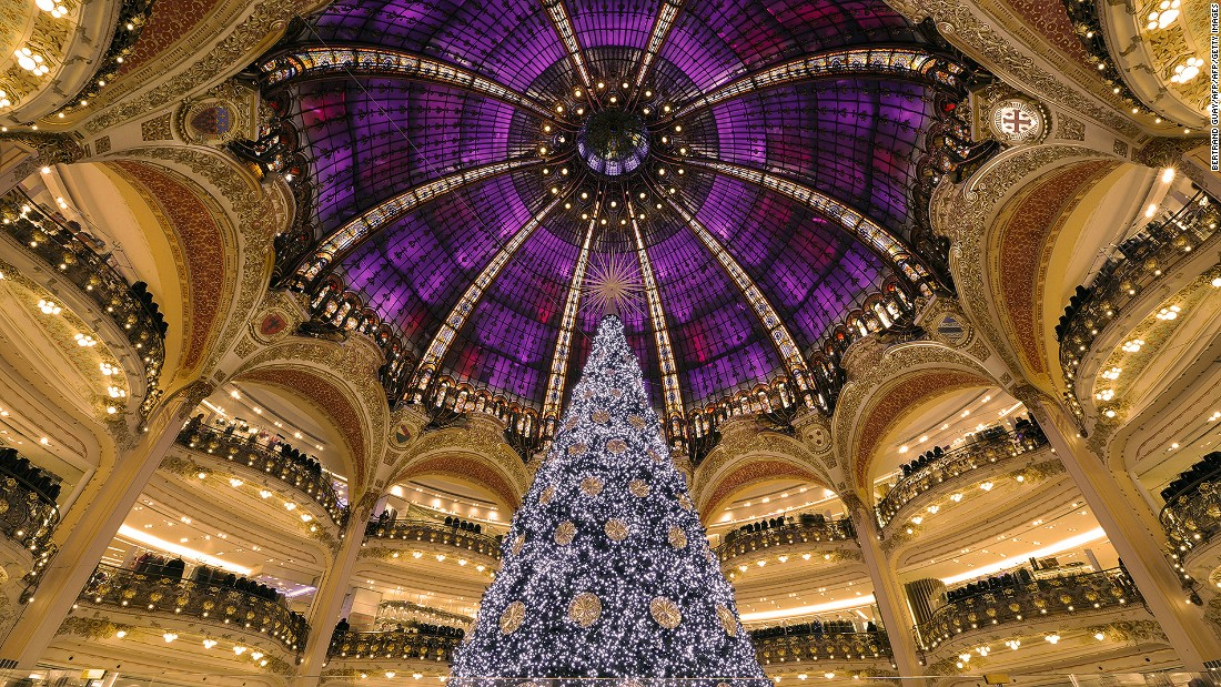 The lavishly designed Galeries Lafayette is the epitome of the golden age of department stores. Its rooftop terrace offers great views of the French capital.