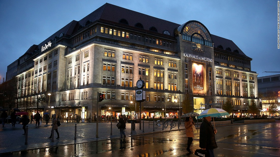 Affectionately known as KaDeWe, the 60,000-square-meter Kaufhaus des Westens is the largest department store in mainland Europe. Its food hall boasts about 35,000 products and more than 30 gourmet bars helmed by 150 chefs.