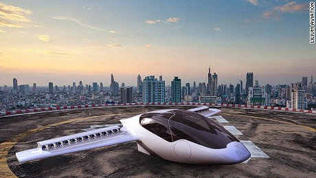 Lilium jet, electric vertical take-off and landing plane