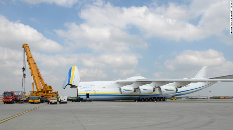 Cargo is loaded through the plane's nose. On its current mission, Mriya is transporting a giant Czech-made electric generator from Prague across three continents to Perth, Australia. Mriya's massive cargo hold is 141 feet (43 meters) long. That's longer than the Wright Brothers' historic flight in 1903.