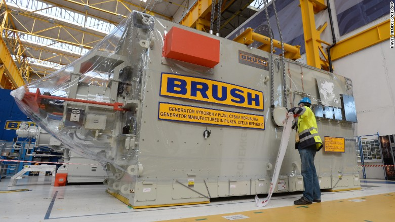 The Mirya has been tasked with delivering a generator that weighs more than 100 tons. It was manufactured by the Brush Sem engineering company in Plzen, Czech Republic, for Australian aluminum producer Worstely Alumina.