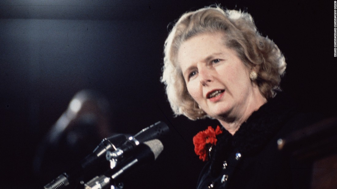 """<strong>Margaret Thatcher:</strong> The United Kingdom's first female Prime Minister, <a href=""""http://www.cnn.com/2013/04/08/world/europe/uk-margaret-thatcher-dead/"""" target=""""_blank"""">who was called the """"Iron Lady""""</a> for her personal and political toughness, served from 1975 to 1990. She was forced to resign in 1990 during an internal leadership struggle."""