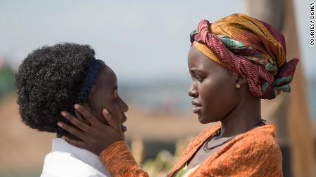 "Lupita Nyong'o and Madina Nalwanga in ""Queen of Katwe"", Disney's film about the life of Phiona Mutesi."