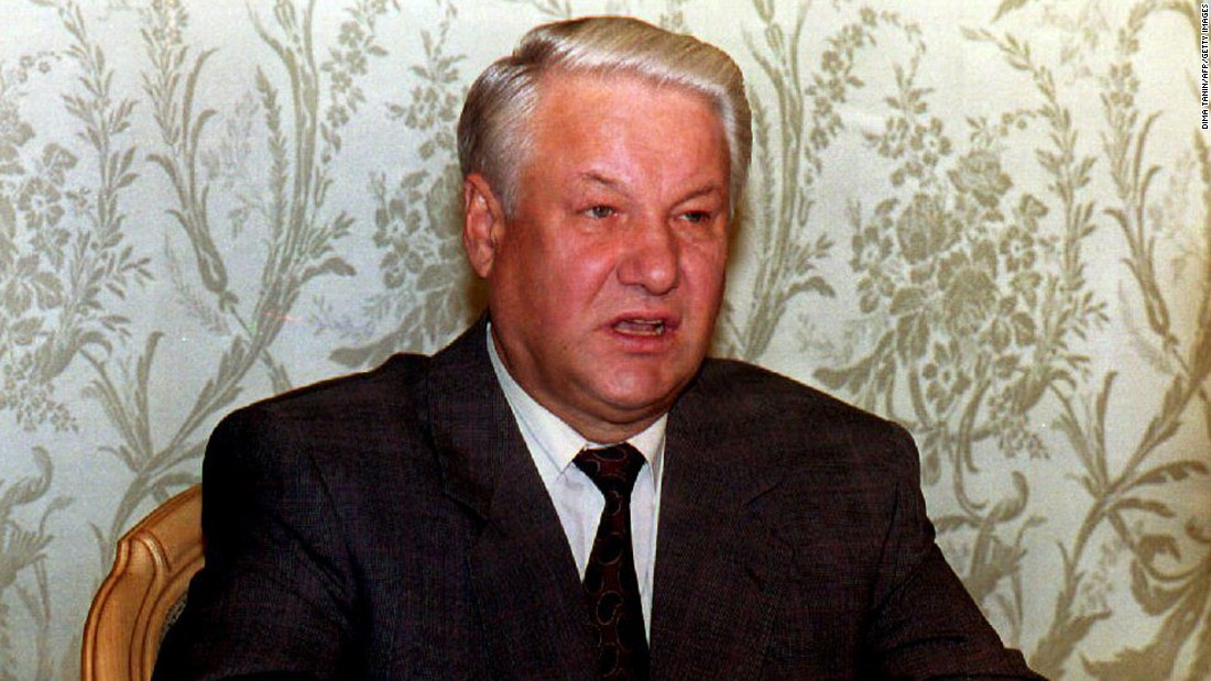 """<strong>Boris Yeltsin:</strong> The Russian President <a href=""""http://money.cnn.com/1999/12/31/emerging_markets/yeltsin/"""" target=""""_blank"""">announced his resignation</a> on New Year's Eve in 1999, putting then-Prime Minister Vladimir Putin in charge. During the announcement, Yeltsin apologized for failing to live up to early expectations as the architect of Russia's new democracy."""