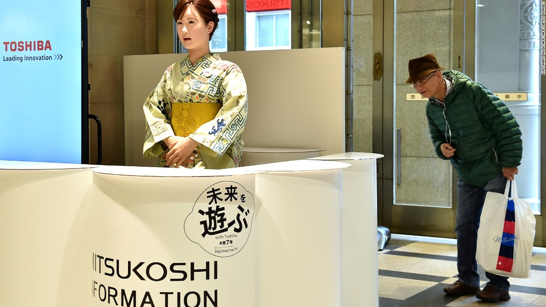 """Nihonbashi Mitsukoshi Main Store """"employs"""" a robot named Aiko Chihira as a receptionist. It also has a team of color analysts who can choose the perfect tie for its customers, should they need one."""