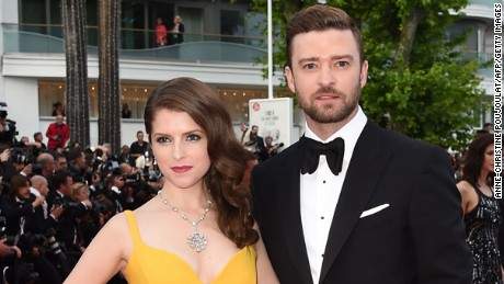 US actress Anna Kendrick (L) and US singer Justin Timberlake pose as they arrive on May 11, 2016 for the opening ceremony of the 69th Cannes Film Festival in Cannes, southern France.  / AFP / ANNE-CHRISTINE POUJOULAT        (Photo credit should read ANNE-CHRISTINE POUJOULAT/AFP/Getty Images)