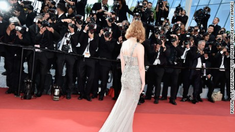 """CANNES, FRANCE - MAY 12:  Jessica Chastain attends the """"Money Monster"""" premiere during the 69th annual Cannes Film Festival at the Palais des Festivals on May 12, 2016 in Cannes, France.  (Photo by Pascal Le Segretain/Getty Images)"""