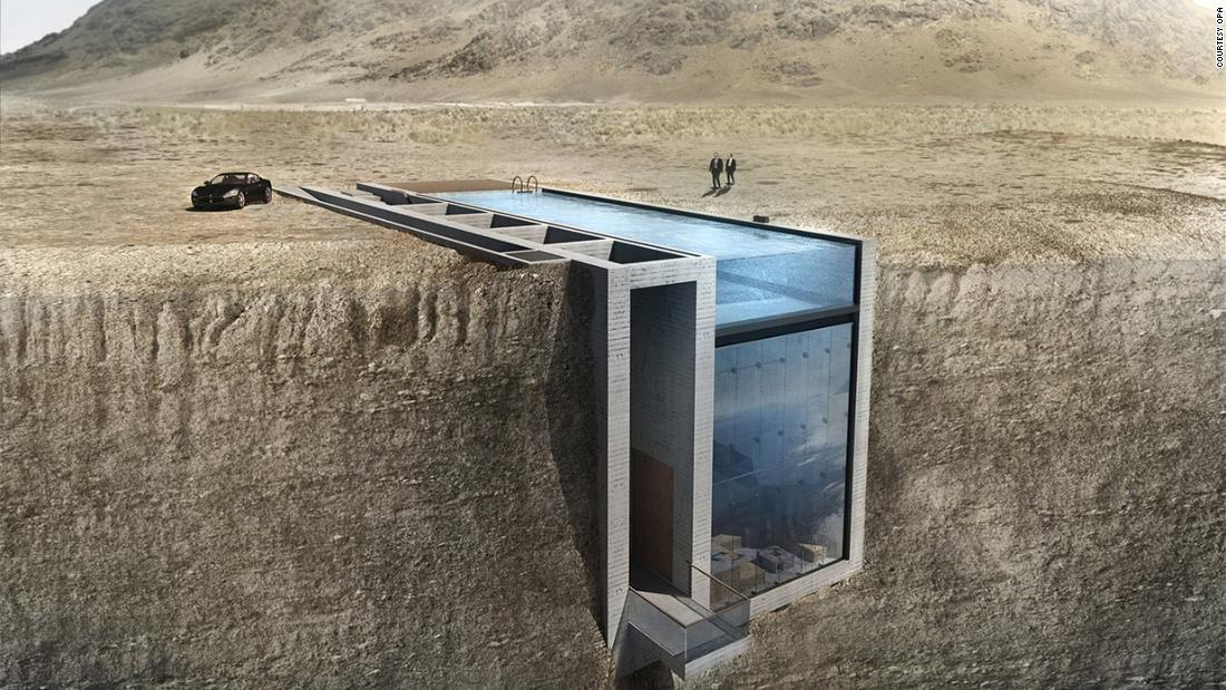 """Last year, Dutch practice <a href=""""http://opaworks.com/"""" target=""""_blank"""">OPA</a> designed a home wedged in a mountaintop that became a viral hit."""