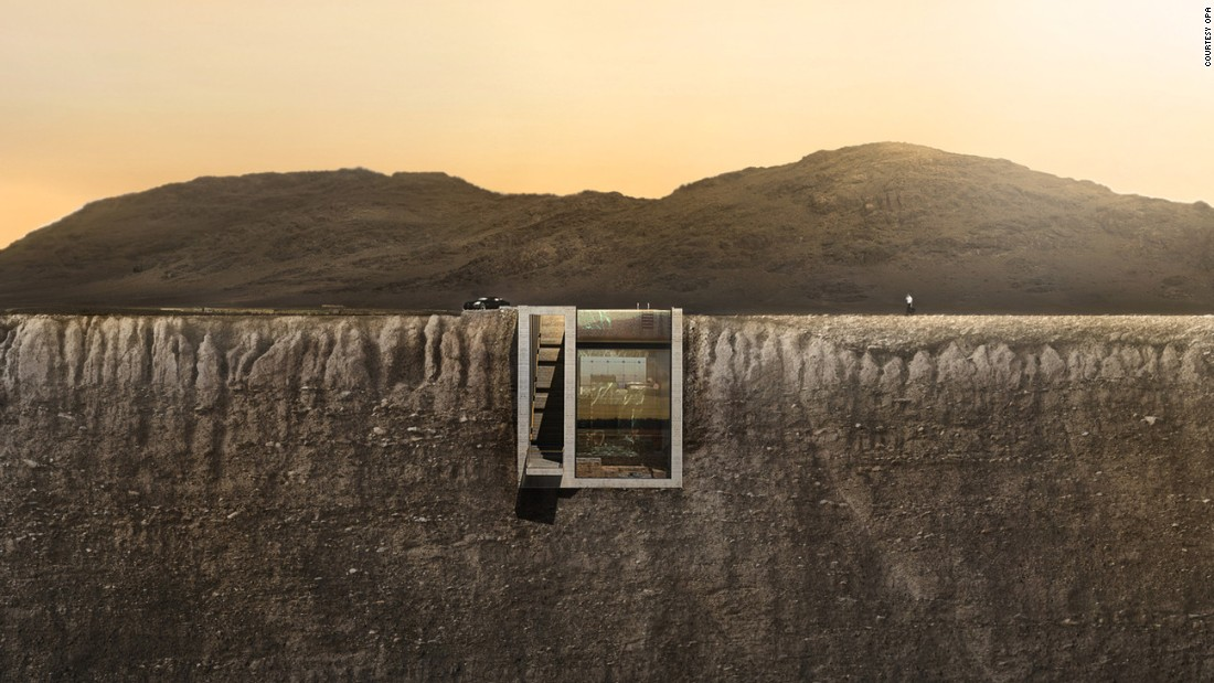 House Being Built Into A Cliff Thanks To Internet