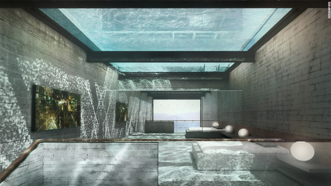 The home will be built 1,600 meters (5249 feet) above sea level on a cliff in Lebanon.