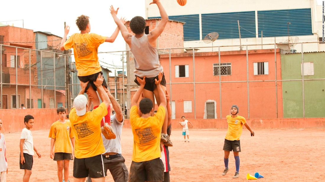 The favela is home to Rugby Para Todos, a project set up 12 years ago by two rugby players.