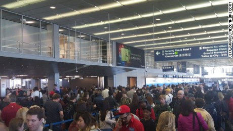 Jeff Graveline was flying out of O'Hare airport Friday morning.  His wait time at the TSA checkpoint was 80 minutes.  He had to sprint to his gate, but made his flight.